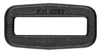 Boucle rectangle (40 mm - Plastique - Noir)