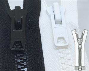 Fermeture éclair glissière séparable Noir maille injecté de 30 à 150 cm couture